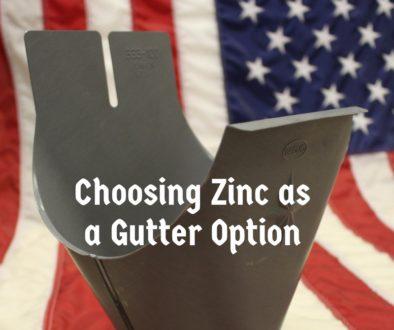Choosing Zinc as a Gutter Option