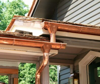 Copper Gutters on a New Home