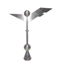 Abstract Weathervane Finial