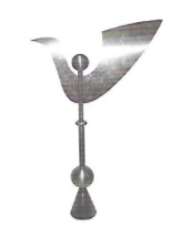 Abstract Weathervane Finial 4