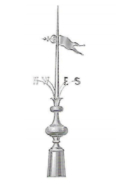 Compass and Arrow Finial 3