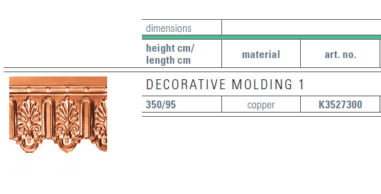 copper decorative panel