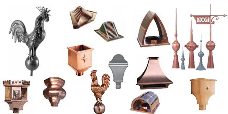 zinc and copper ornaments