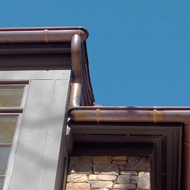copper gutter
