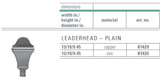 zinc gutter leaderhead