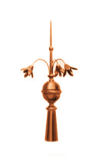 zinc and copper finials
