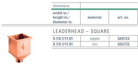 copper gutter leaderhead
