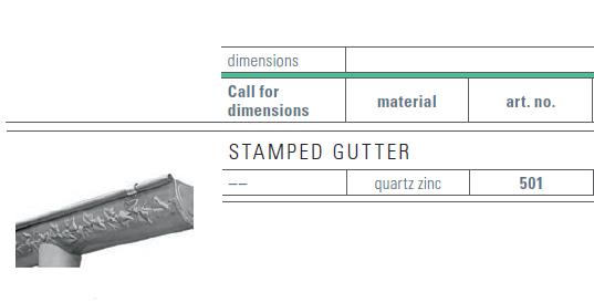 zinc stamped gutter