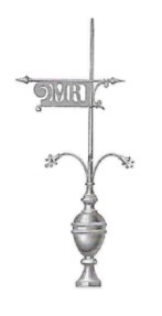 Weathervane and Flowers Finial