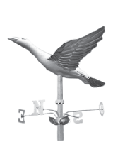 zinc and copper weathervanes